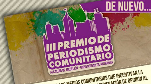 Abierta la convocatoria del III Premio de Periodismo Comunitario de Medellín