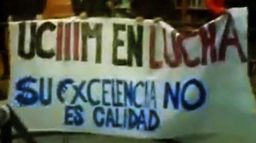 #14M: Los futuros periodistas de la Carlos III reclaman una educación pública y de calidad