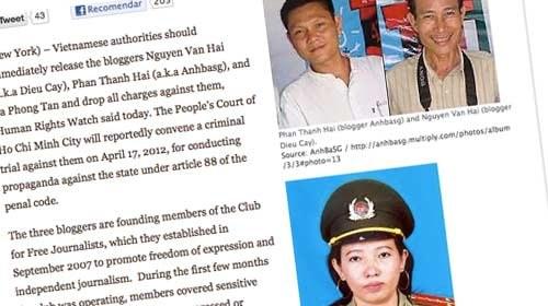 Polémico juicio contra 3 blogueros y activistas en Vietnam
