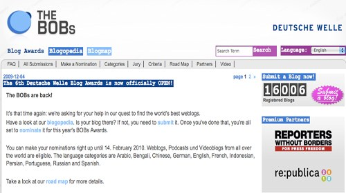 """Vota a tus bloggers favoritos en la 6ª edición """"The BOBs 2010"""""""