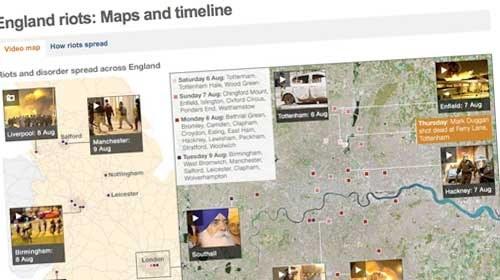 5 mapas interactivos para seguir los #LondonRiots