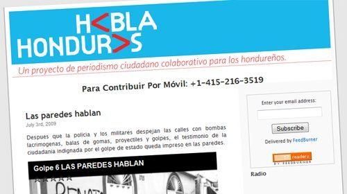 HablaHonduras, periodismo ciudadano frente al golpe de estado