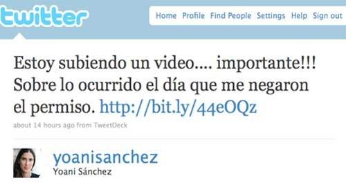 Así se quedó Yoani Sánchez sin salir de Cuba