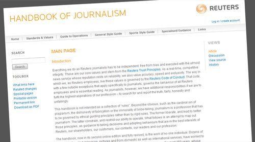 Reuters publica en la Red su Manual de Periodismo