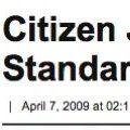 Estándares de periodismo ciudadano en el Huffington Post.