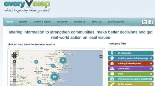 Streetcorner lanza Everymap: periodismo ciudadano hiperlocal desde Australia