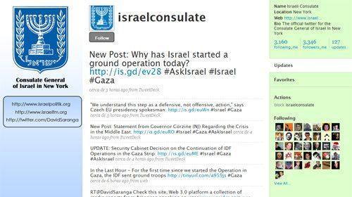 Las autoridades de Israel utilizan los medios sociales para justificar los ataques en Gaza