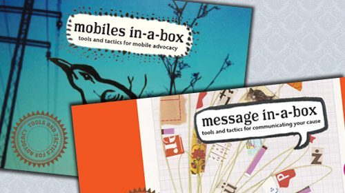 Message in-a-box y Mobiles in-a-box, nuevos kits de Tactical Technology Collective