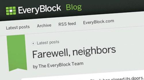 Cierra EveryBlock, pionero en la agregación de noticias hiperlocales