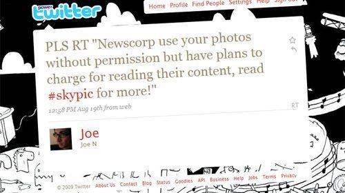 Usuario de Twitter exige a Sky News el pago por usar una foto publicada en Twitpic