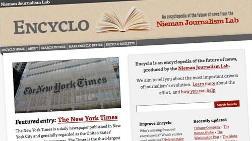 Nieman Journalism Lab lanza Encyclo, una enciclopedia del futuro de la información