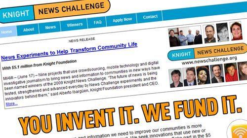 La Fundación Knight anuncia los ganadores del Knight News Challenge 2009