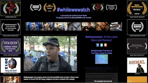 # Whilewewatch: el movimiento #ocuppyWallStreet se convierte en un documental