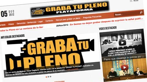 &#8220;Graba tu Pleno&#8221;, es tu derecho