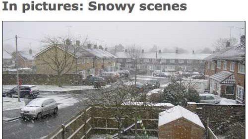 BBC News bate récords con 42.000 ciudadanos informando del temporal del nieve en el Reino Unido