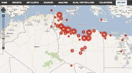"""El nuevo voluntariado en línea: """"Libya Crisis Map"""""""