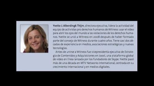 """Yvette J. Alberdingk Thijm y Witness: """"Ver es creer"""""""