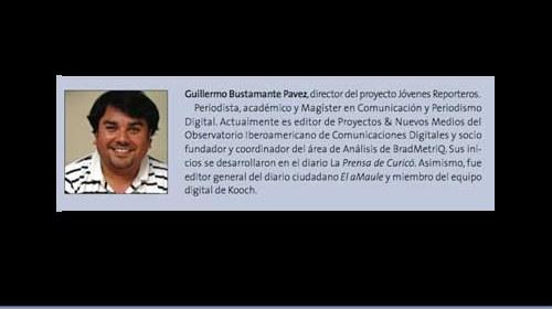 Guillermo Bustamante Pavez y Jóvenes Reporteros: periodismo ciudadano y educación