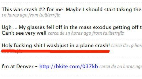 """Un pasajero """"twittea"""" el accidente de un avión en el aeropuerto de Denver"""