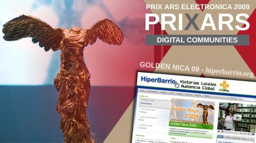 Hiperbarrio gana el Prix Ars Electronica 2009 en la categoría Digital Communities