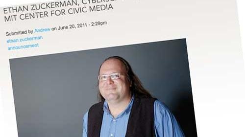 Ethan Zuckerman nuevo director del MIT's Center for Civic Media