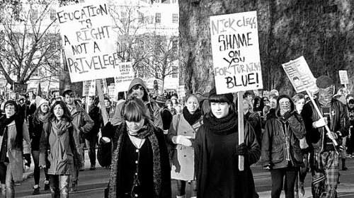 El nuevo rol del fotógrafo: imágenes y vídeos de las protestas estudiantiles en Londres