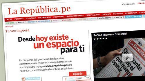 El diario peruano La República se abre a la participación de los lectores