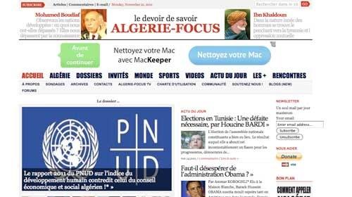 Algérie-Focus: una plataforma argelina para el intercambio de información