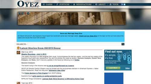 Oyez Project: El Trabajo de la Corte Suprema de los Estados Unidos a disposición de los ciudadanos