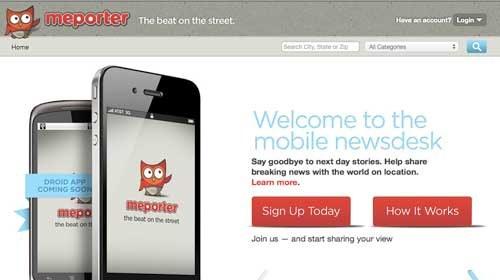 """""""Meporter"""": periodismo ciudadano local y móvil"""