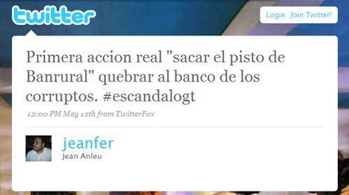 Usuario de Twitter arrestado en Guatemala por incitar al pánico financiero desde esa red