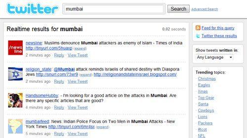 Twitter se reafirma como fuente de noticias tras los atentados de Mumbai