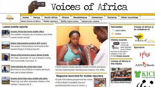 Voices of Africa, mejor videoblog en los Bobs 2008