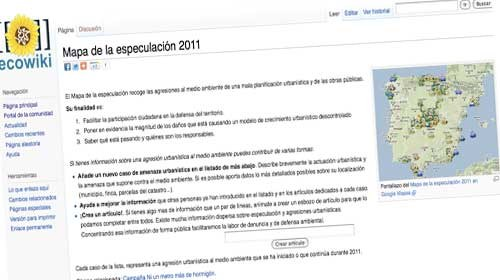 """Ecowiki y el """"mapa de la especulación"""": ecologismo y activismo social"""