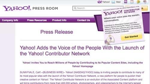 Yahoo Contributor Network: La nueva apuesta de Yahoo por el periodismo ciudadano