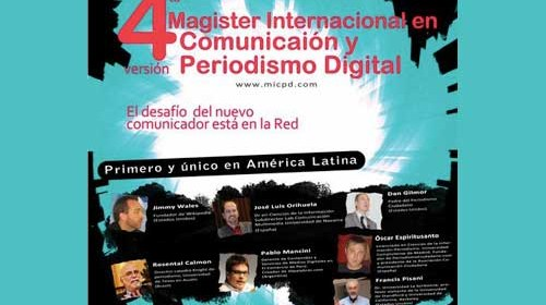 Periodismo Ciudadano en el 4º Magister Internacional en Comunicación y Periodismo Digital