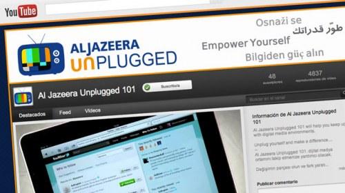 Al Jazeera Unplugged, un canal de YouTube para formar a periodistas ciudadanos