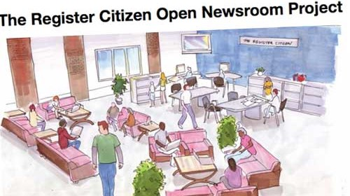 The Register Citizen Newsroom Cafe: periodismo, café y ciudadanos