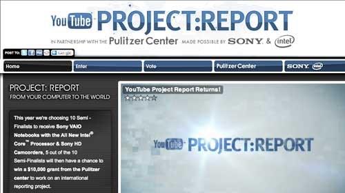 """YouTube y el Pulitzer Center convocan la 2ª Edición del concurso """"Project Report"""""""