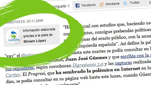 20Minutos.es acredita en sus artículos la colaboración de los lectores