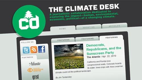 The Climate Desk, periodismo distribuido para informar del cambio climático