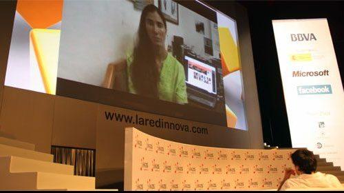 Yoani Sánchez no pudo asistir al evento La Red Innova. El gobierno cubano no le permite salir de la isla.
