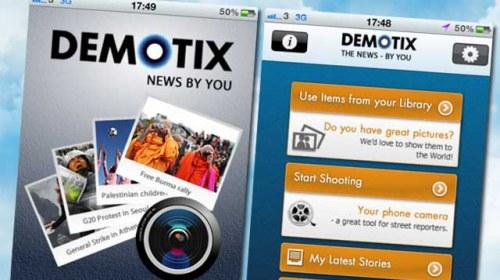 Demotix lanza su propia aplicación para iPhone