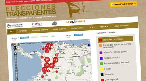 Elecciones Transparentes, participación ciudadana por la transparencia electoral en las presidenciales de Colombia