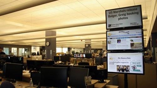 Information Radiator: Twitter en pantallas en la redacción del Boston Globe