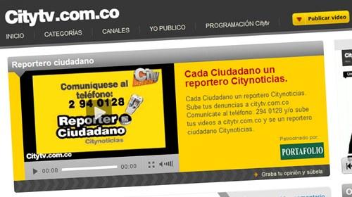 Citynoticias, del canal colombiano Citytv, incluirá la sección Reportero Ciudadano