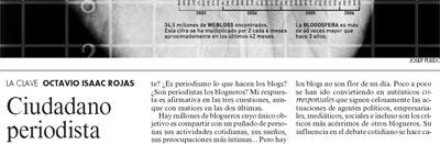 En la Vanguardia: Ciudadano periodista