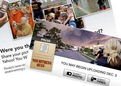 ¿Tienes un teléfono con cámara? Yahoo y Reuters te quieren para trabajar en sus servicios de noticias