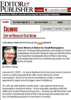 Diez consejos para pequeños periódicos