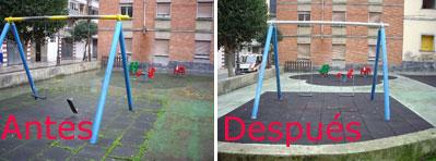 Arreglan un parque infantil tras denunciarlo en su blog